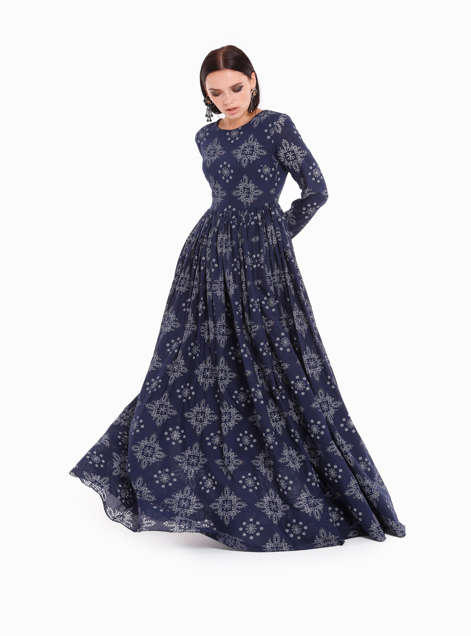 929bcdcd30aaa Ottoman Pattern Seem West Maxi Dress