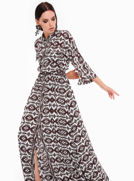 Ethnic Pattern Seem West Dress - Store WF