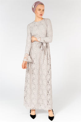 BOW CUFF LACE MAXI DRESS StoreWF