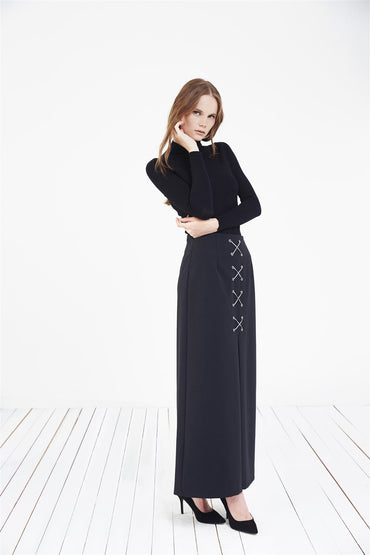 INVERTED PLEAT MAXI SKIRT - Store WF