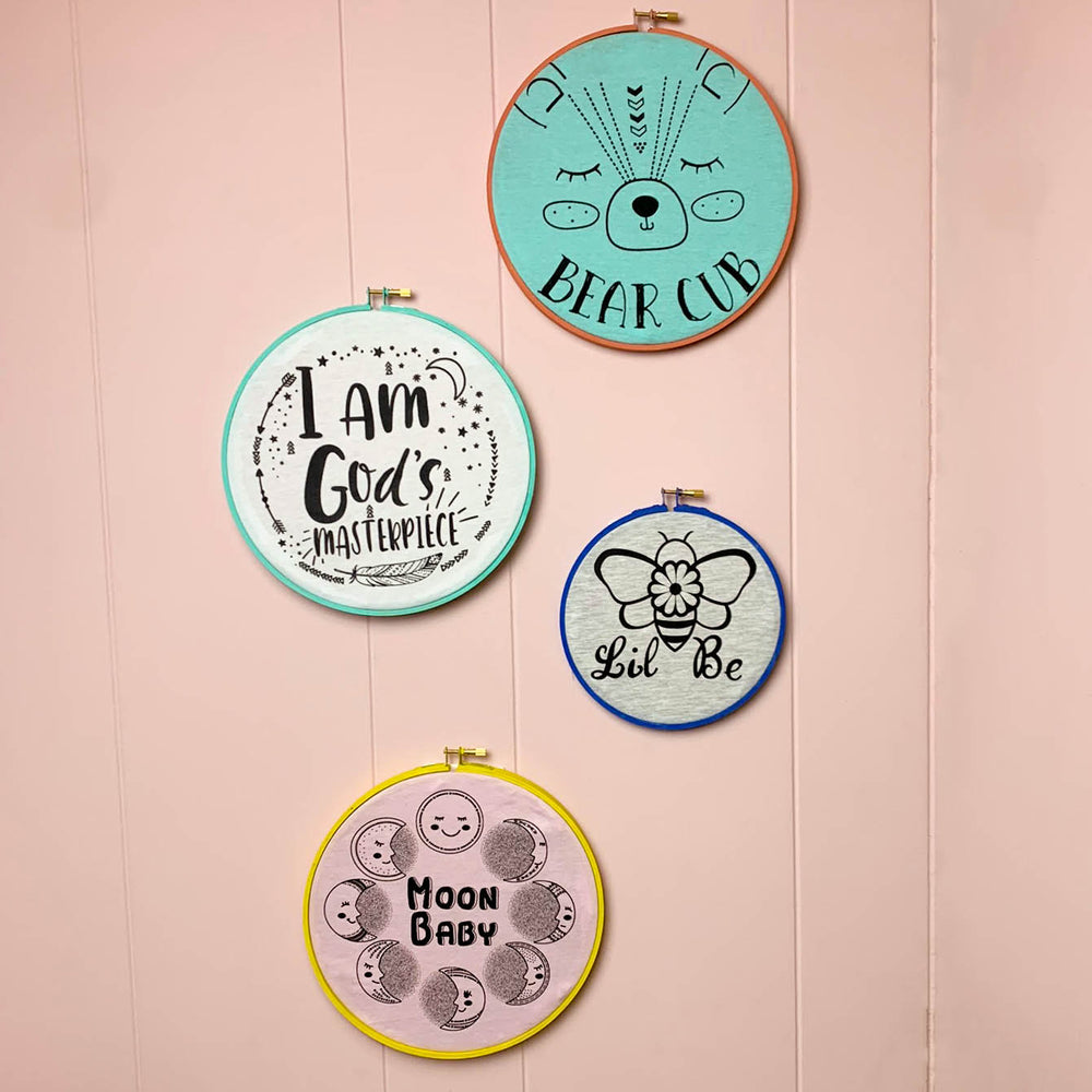 Give Your Baby's Onesies A Second Life.  DIY Wall Art.