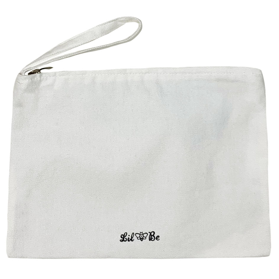 Back view of Natural Zipper Pouch