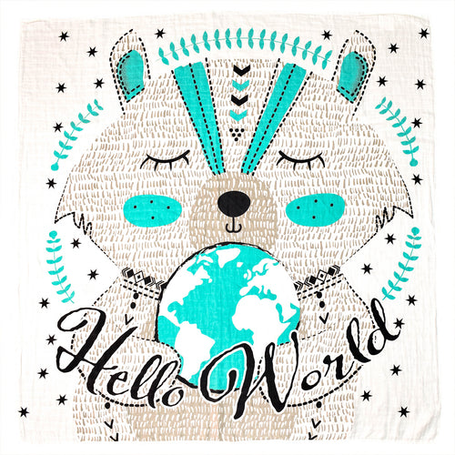 Hello World Organic Swaddle