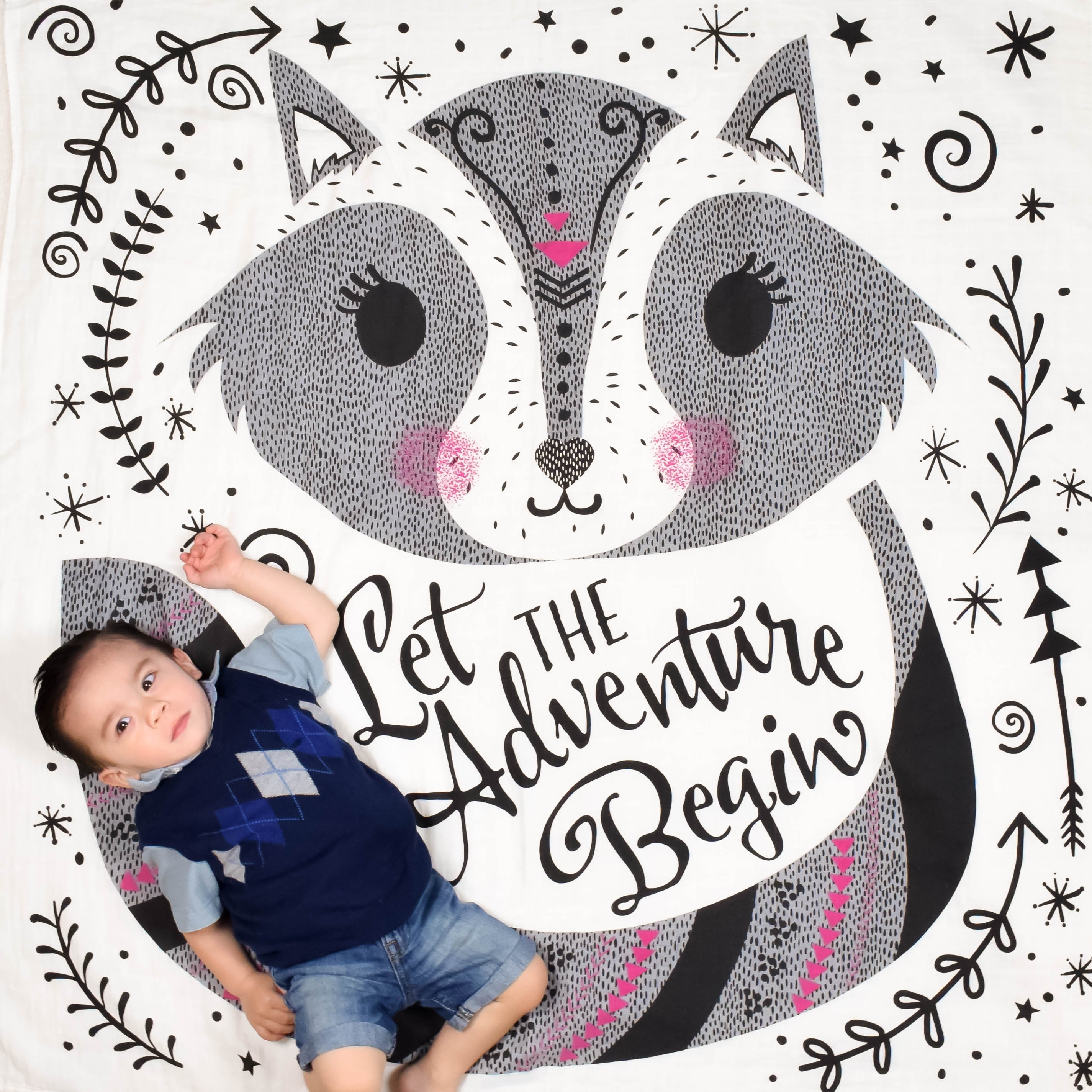 Adventure Begin Organic Swaddle
