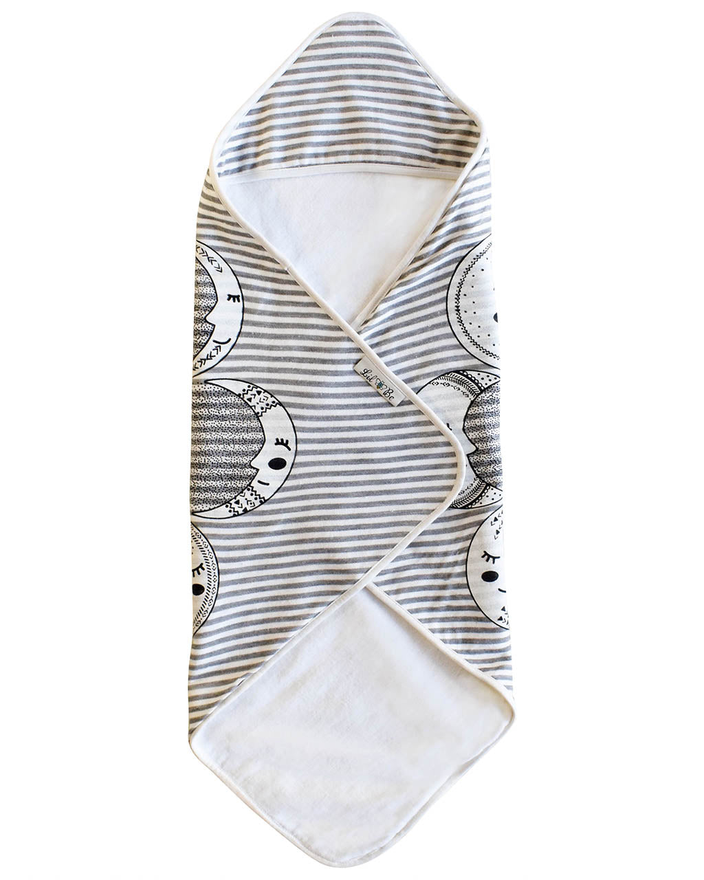 Moon Phases Hooded Towel Fold Up View