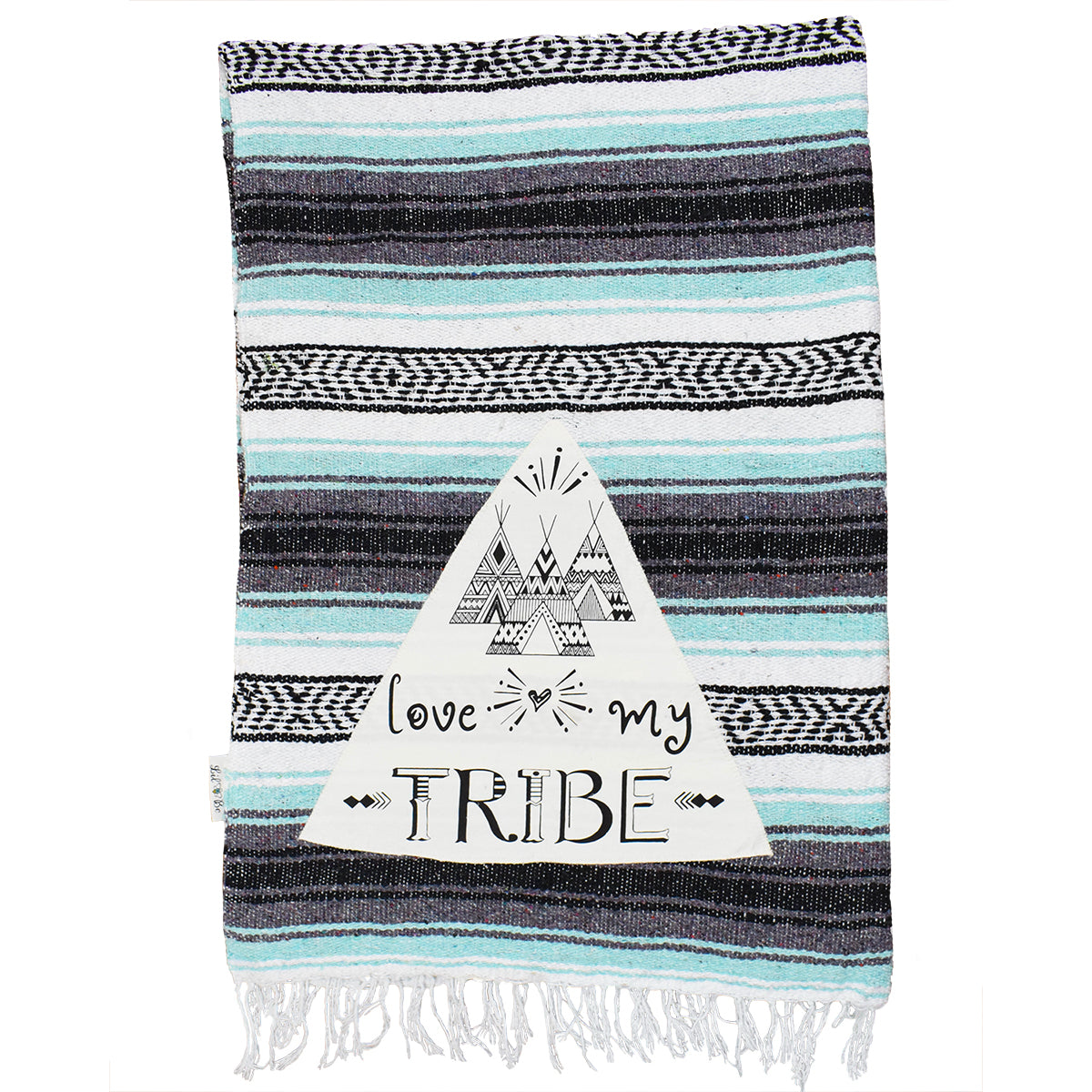 Love my Tribe Mint combo mexican throw blanket