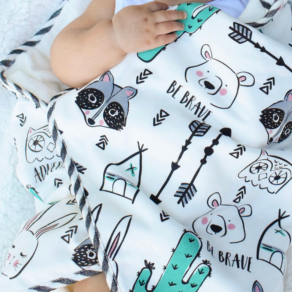 Close View of Baby Hands with Little Critters Hooded Towel