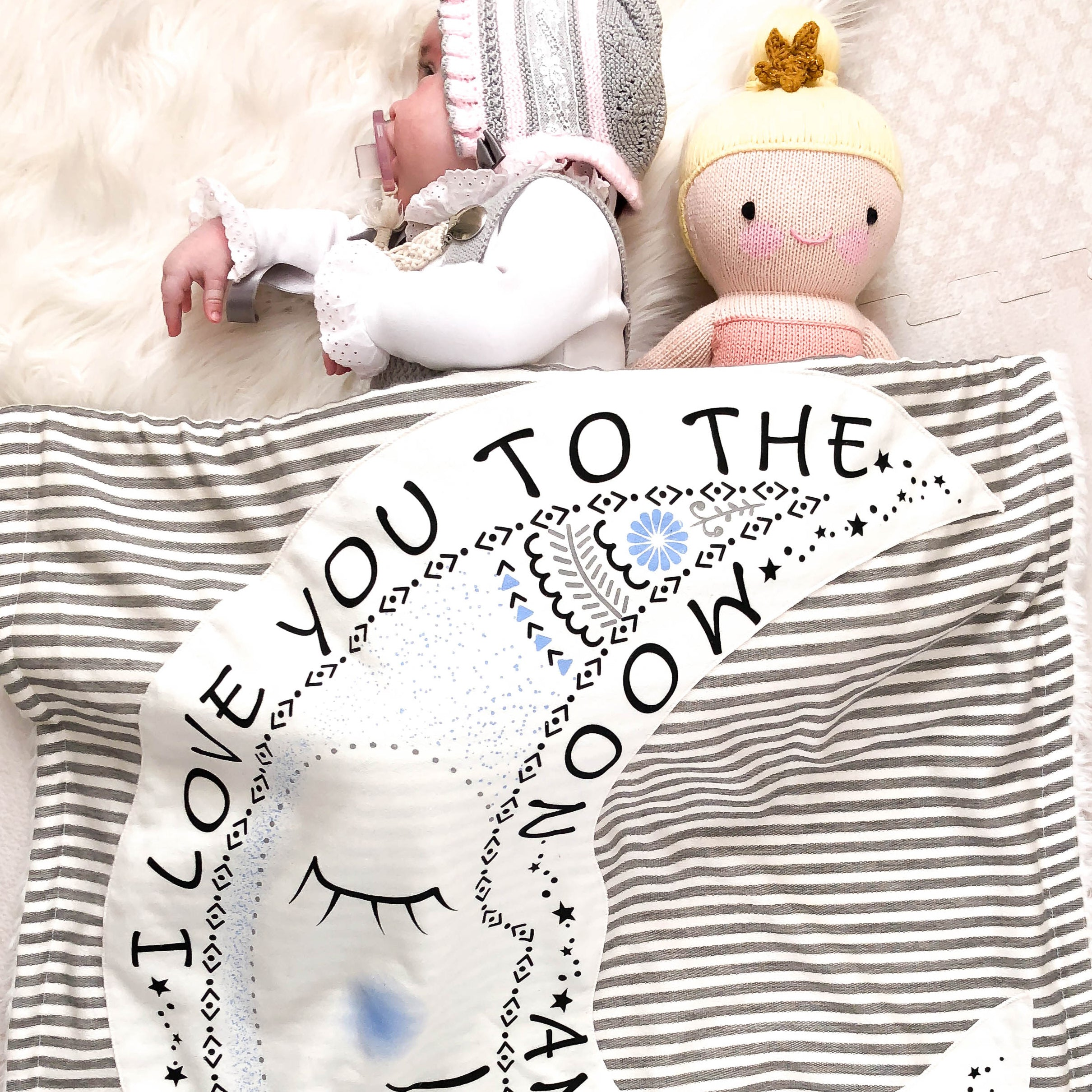 Baby Cover with Magic the Moon Character Baby Blanket