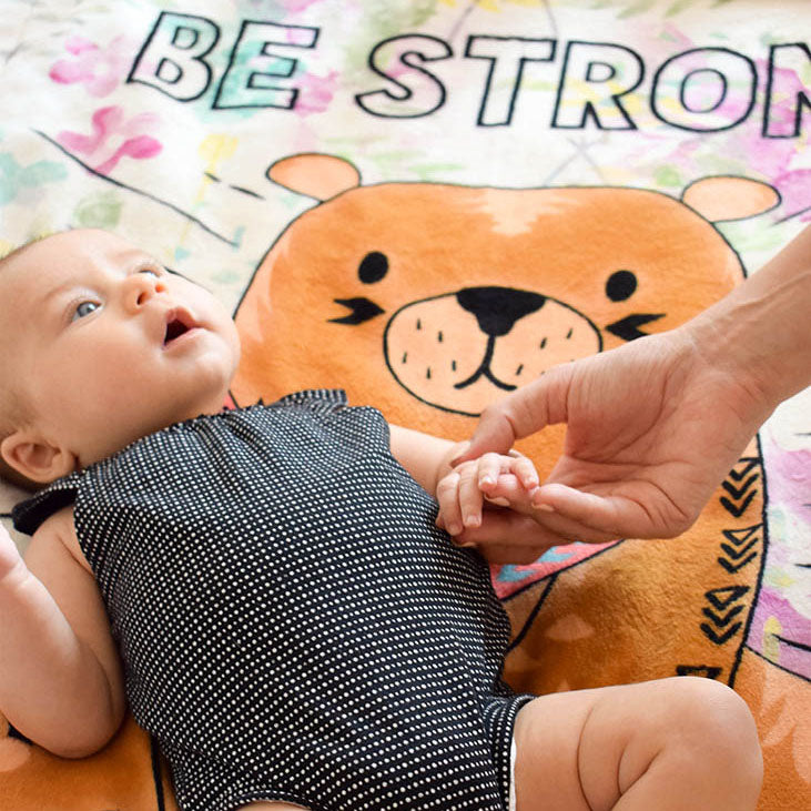 Baby Girl On Be Strong Baby Plush Blanket