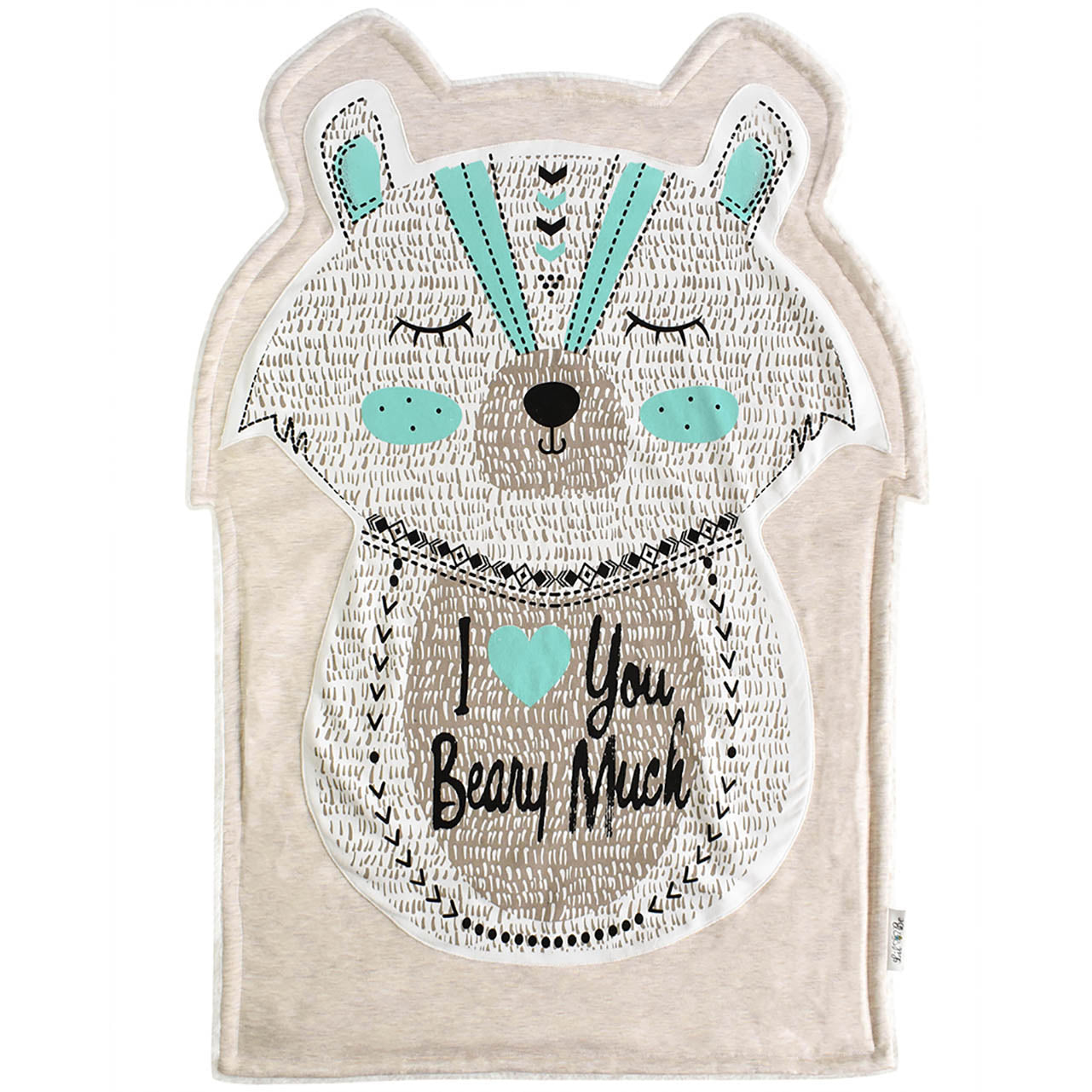 I love you beary much character shaped baby blanket