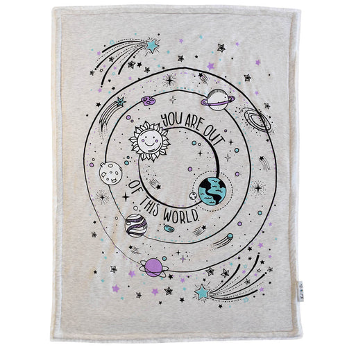 You are out of this world baby blanket