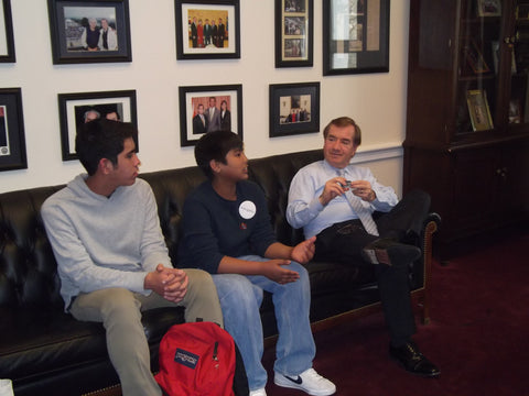 Rep Ed Royce, Keane Veran and Shaun Veran