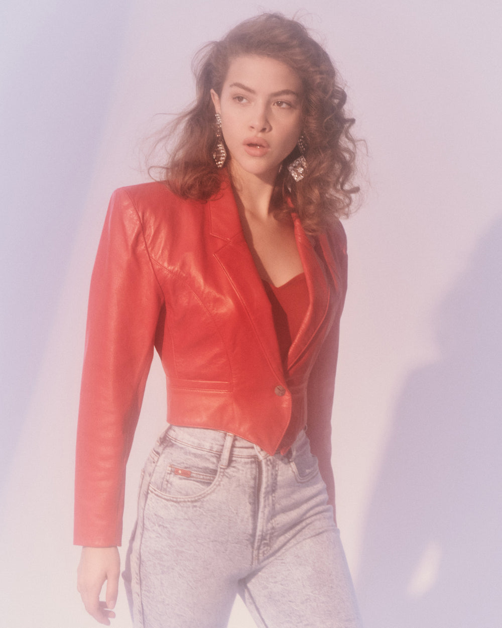 Lipstick Red Leather Jacket