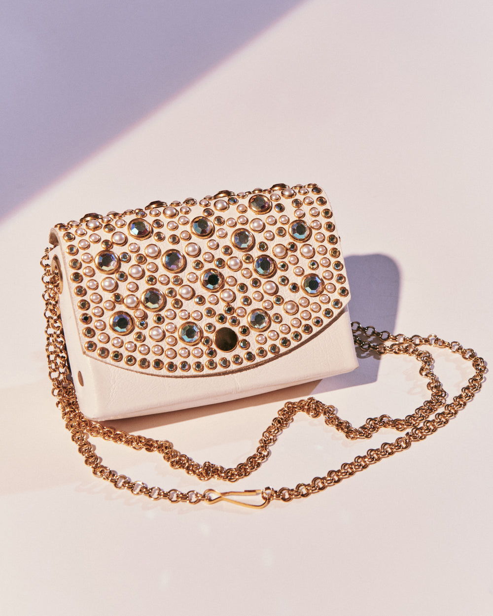 Rhinestone Leather Purse