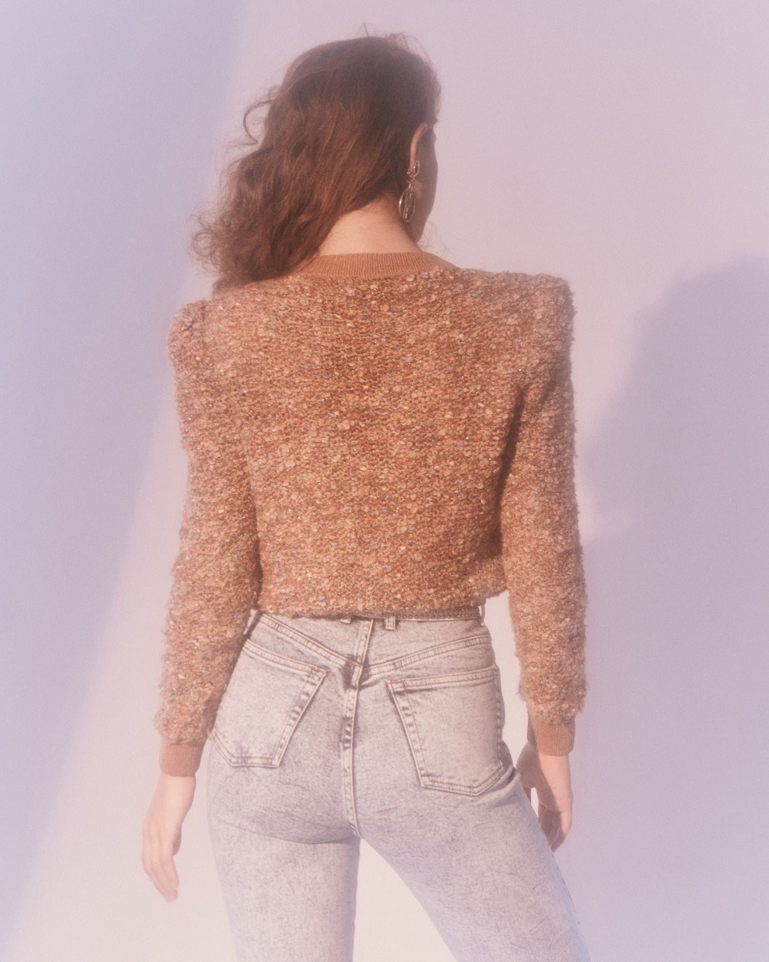 Brown Textured Sweater