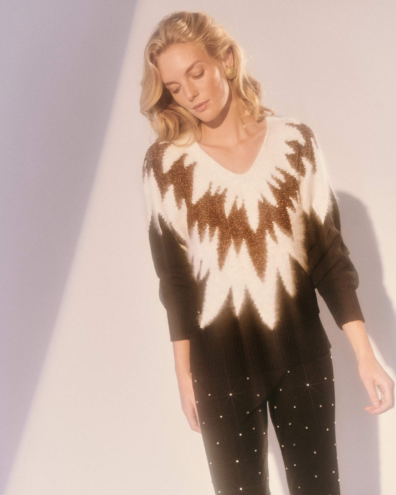 Rolling Thunder Beaded Sweater