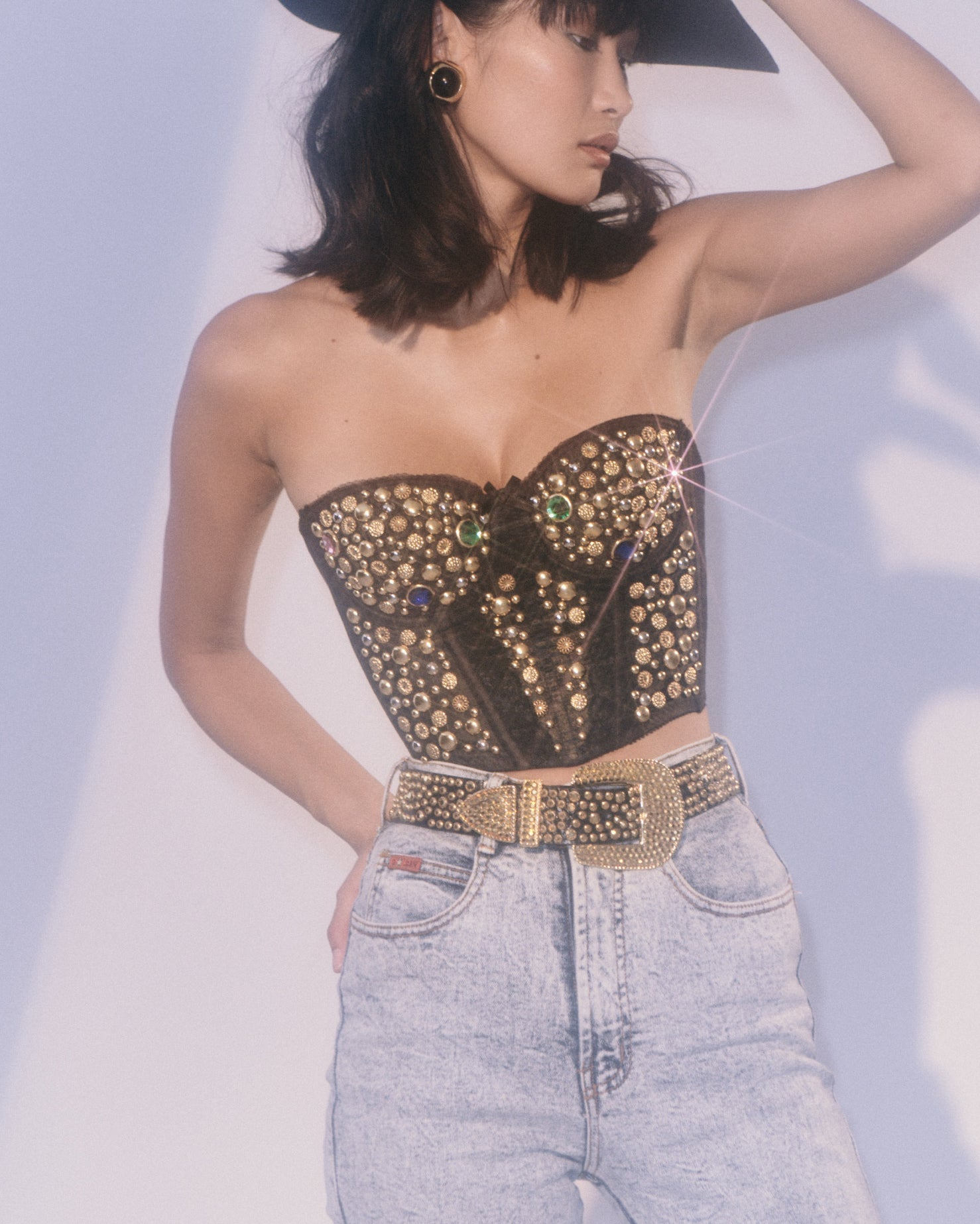 Queen of Las Vegas Studded Bustier