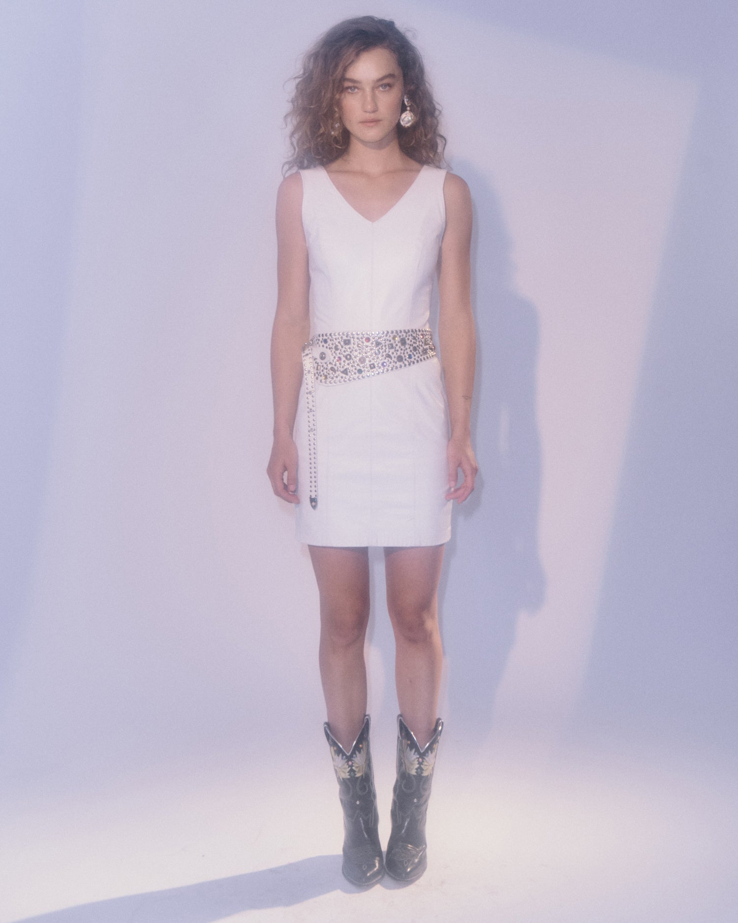 White Heat Leather dress
