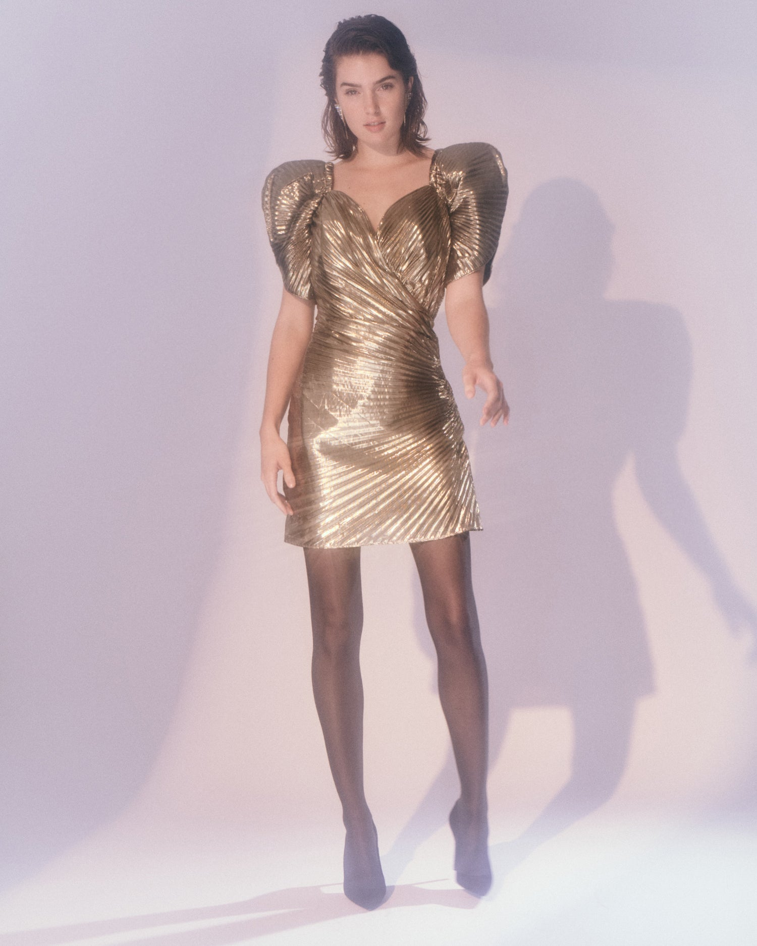 Roxanne // Gold Lamé Dress