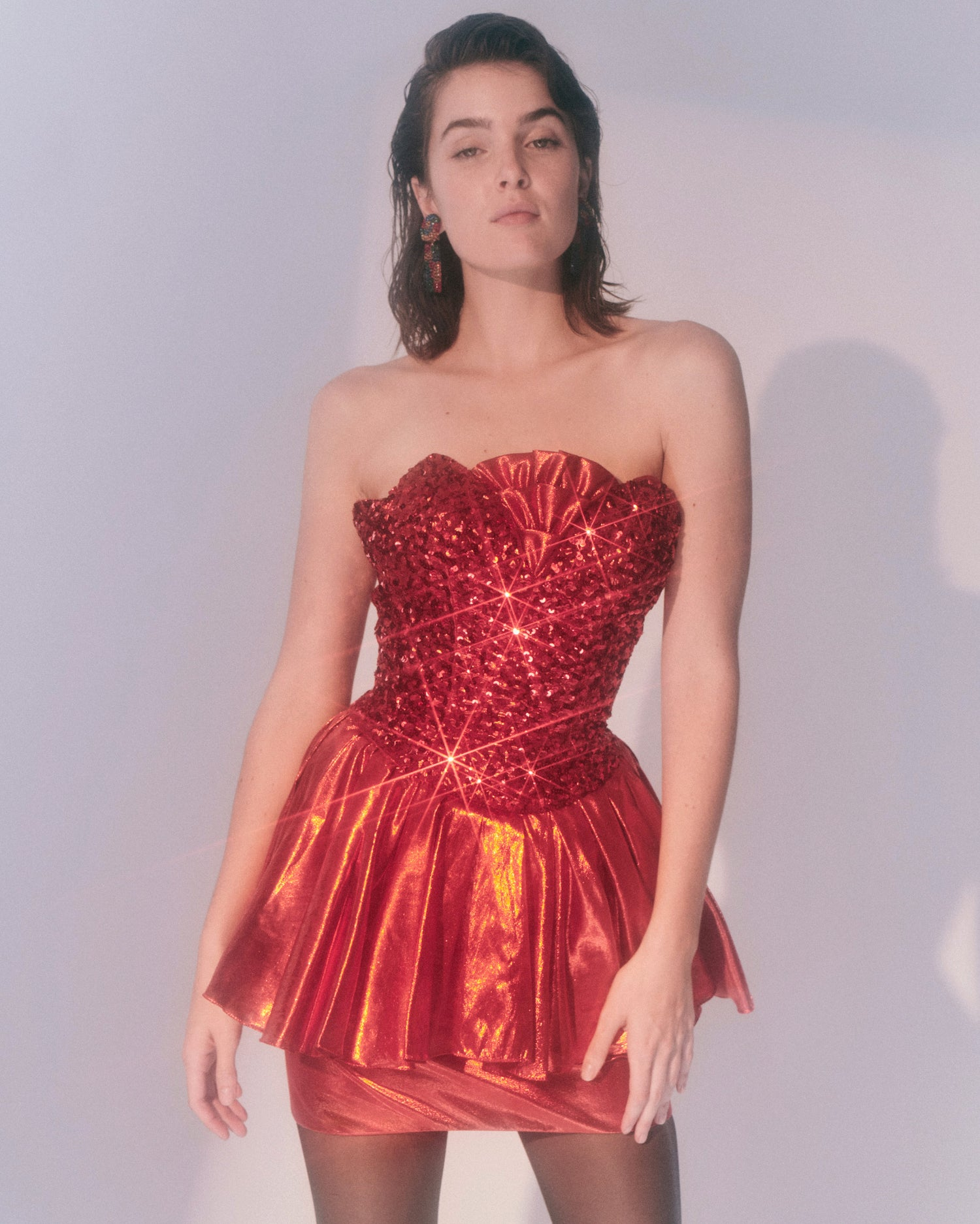 99 Red Balloons // Sequin Lamé Dress