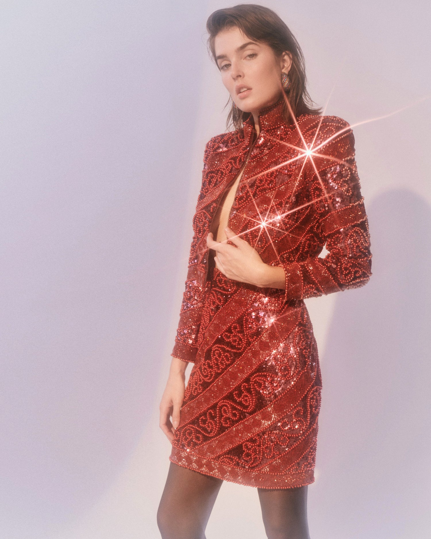 Little Red Corvette // Beaded Sequin Set