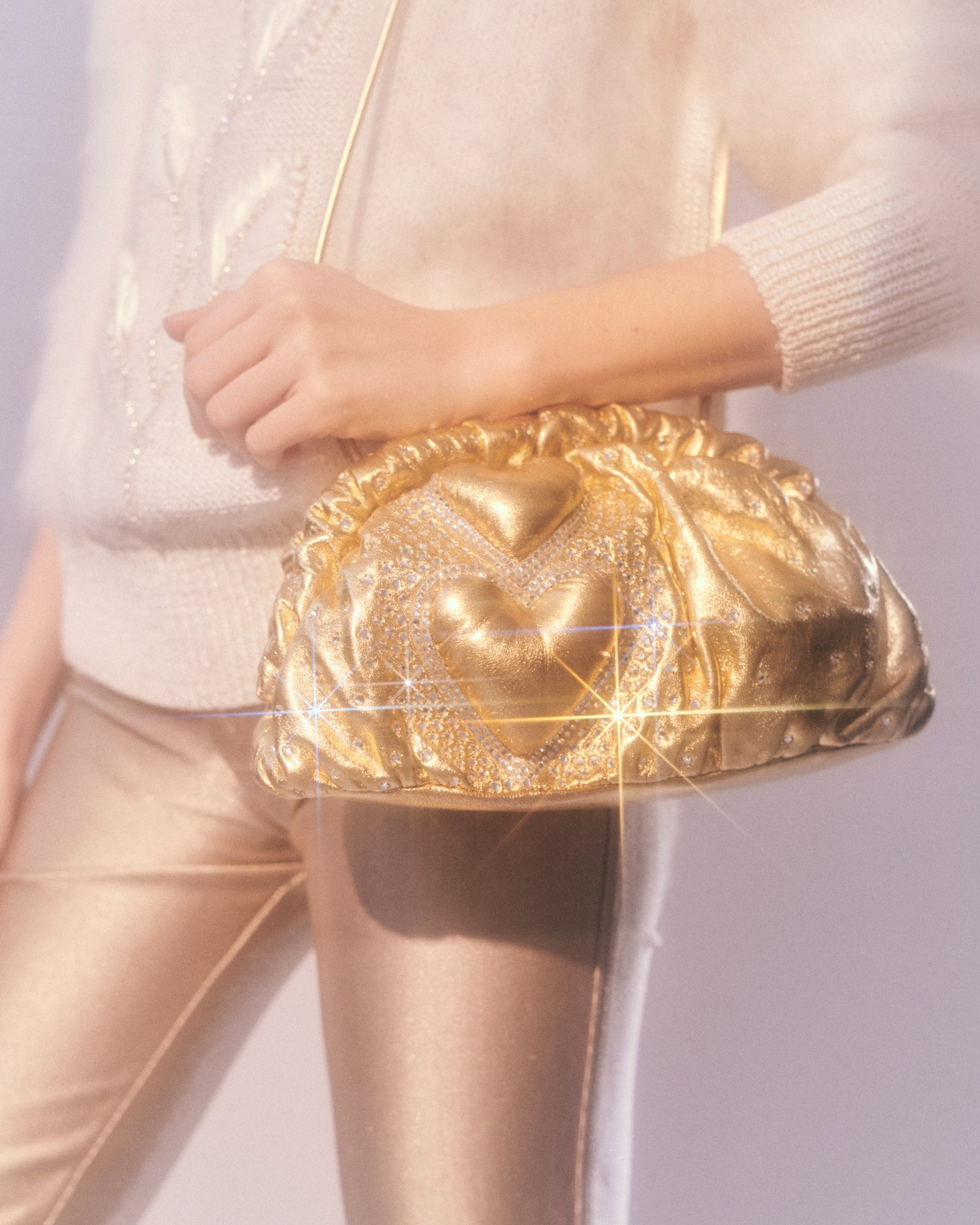 Our Lips are sealed // Metallic Leather Bag