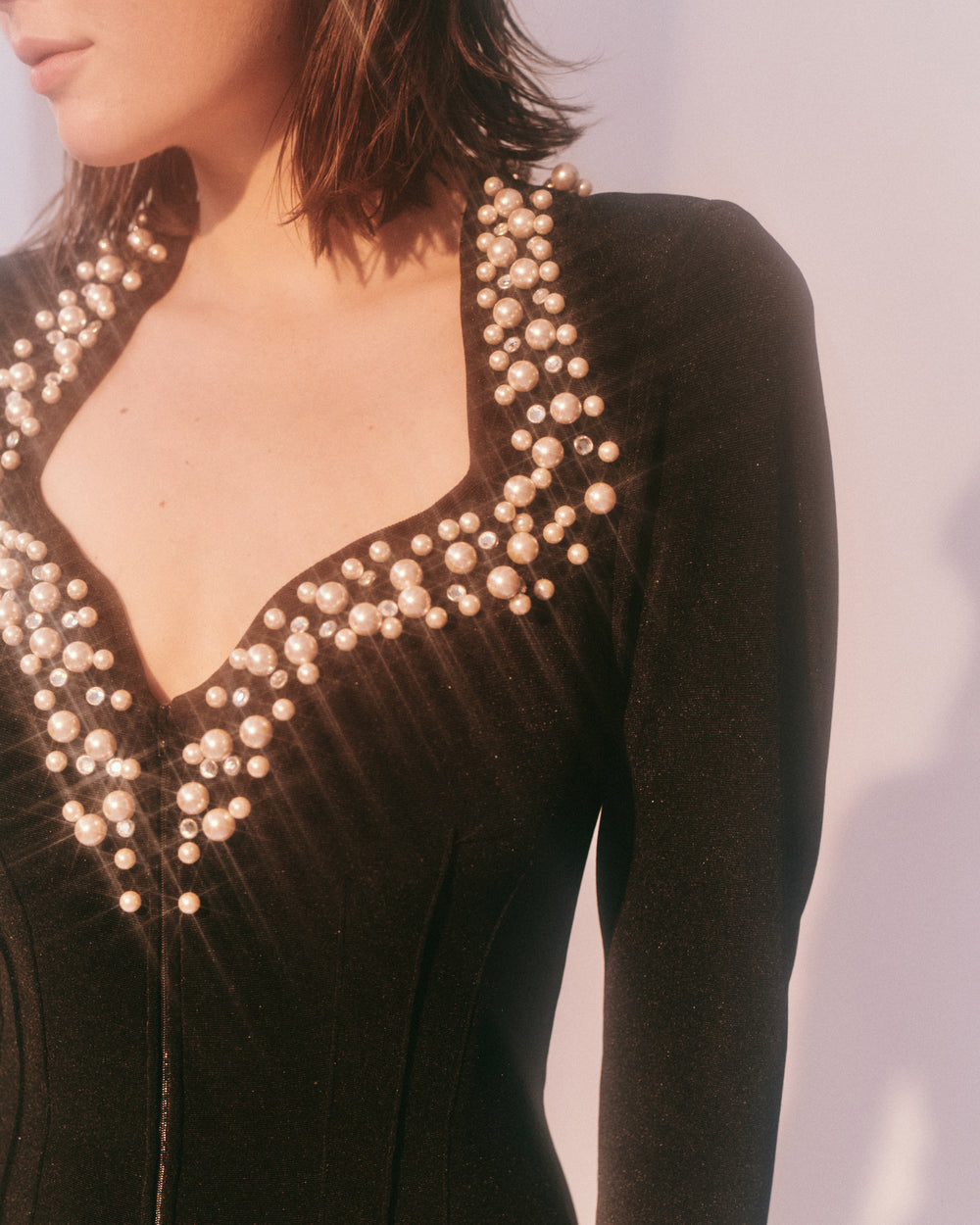Pearls for Passion // Embellished Catsuit