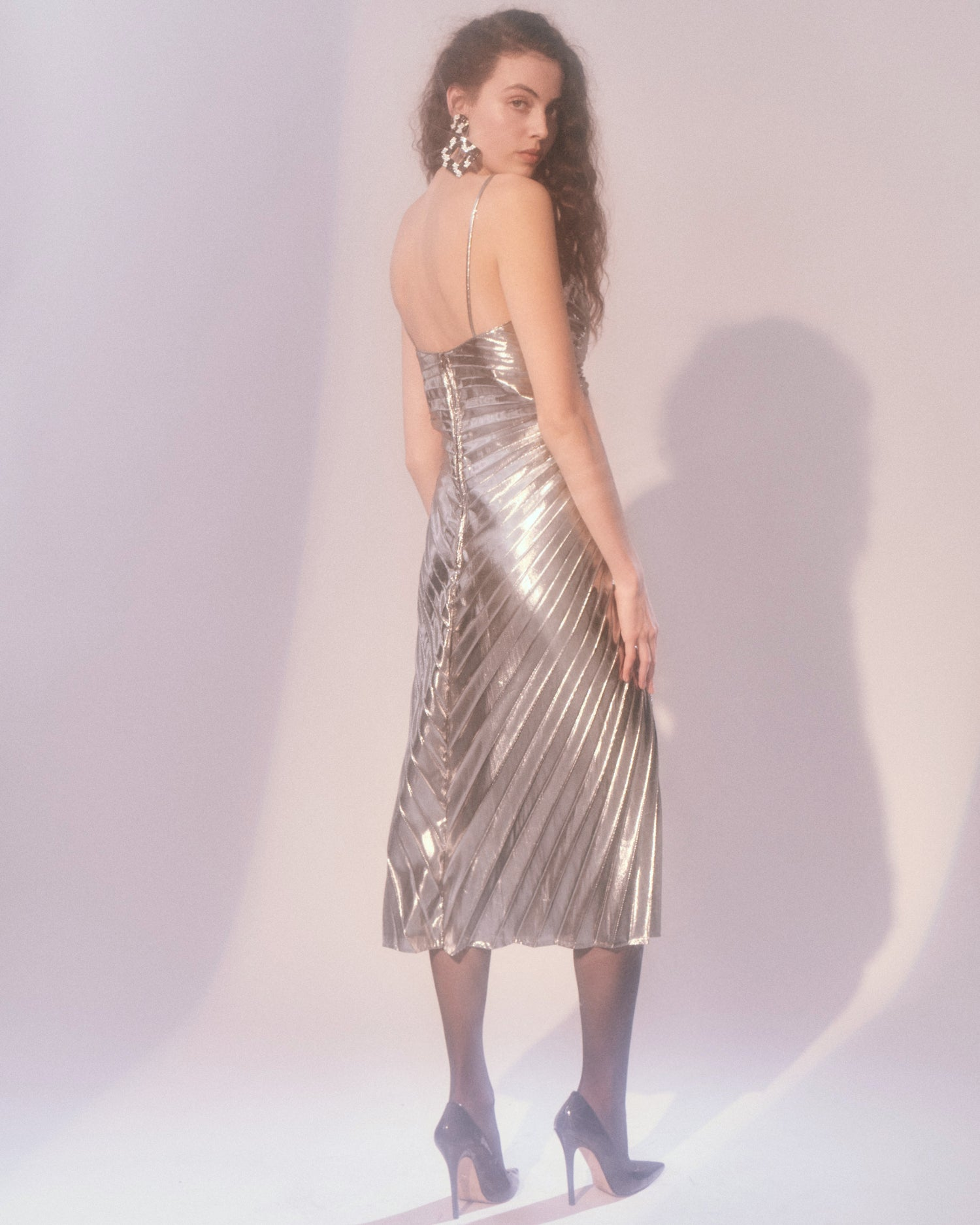 Quicksilver Lightning // Lamé Dress