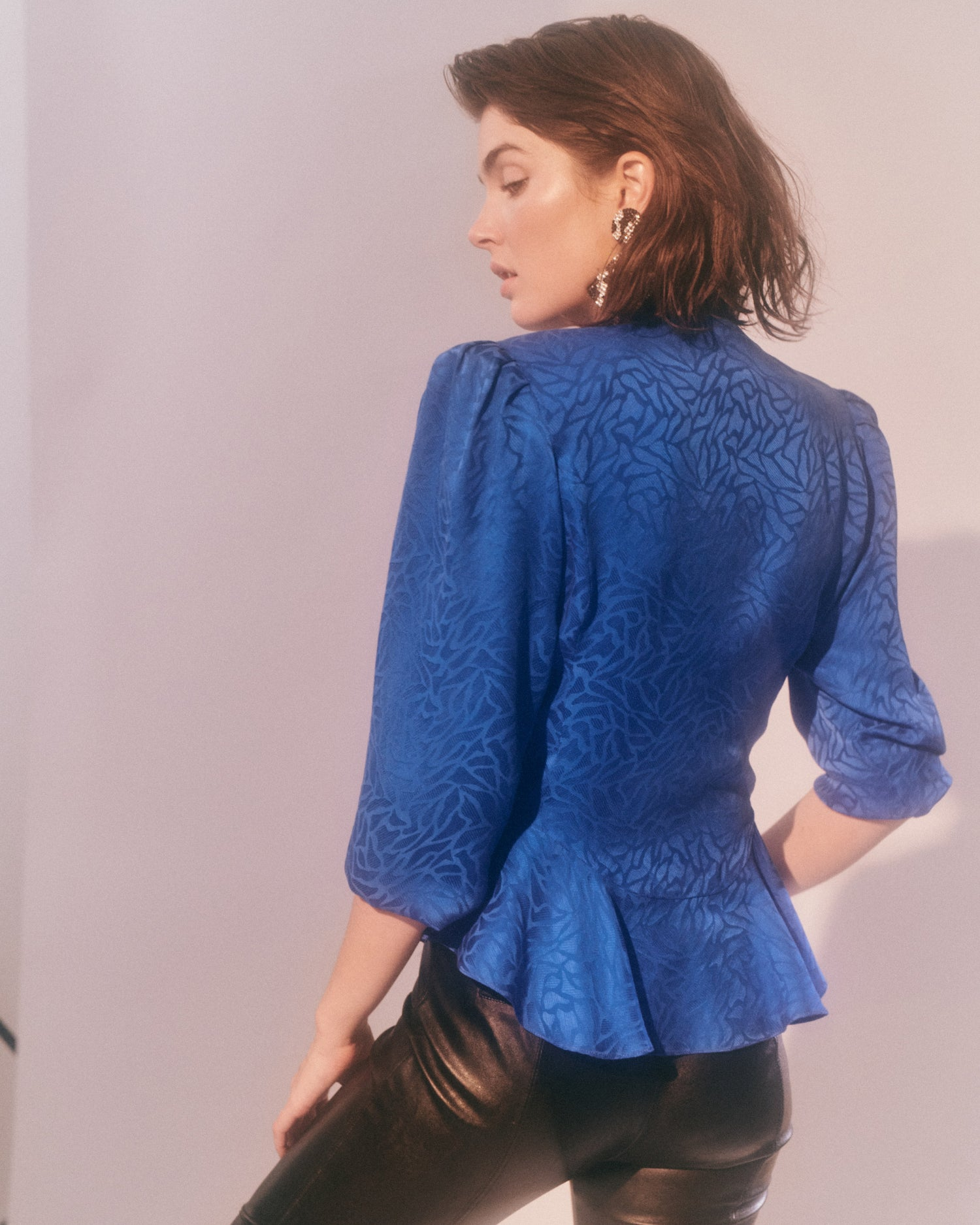 Blue Highway // Silk Peplum Blouse