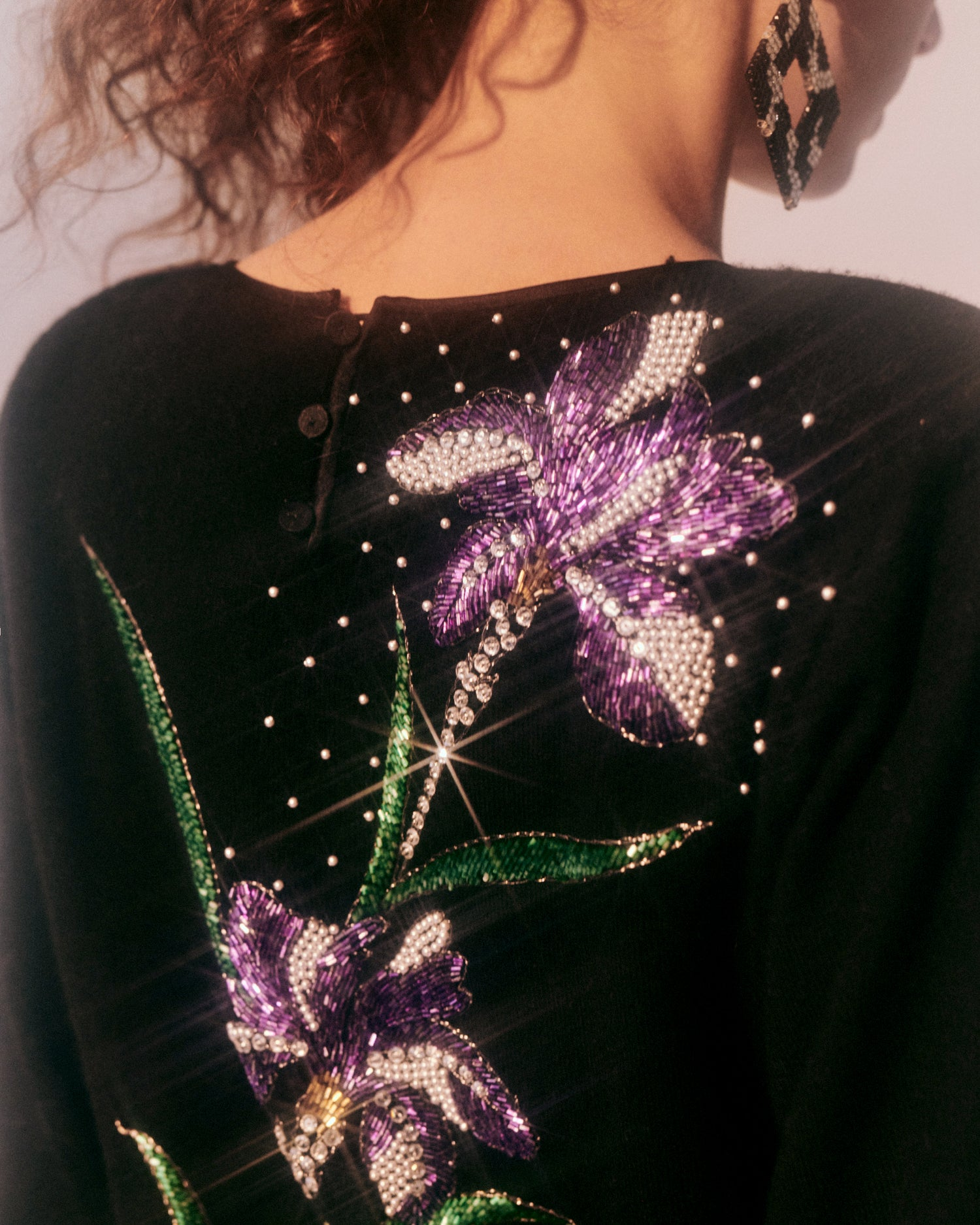 Nothing But Flowers // Beaded sweater by Hanae Mori