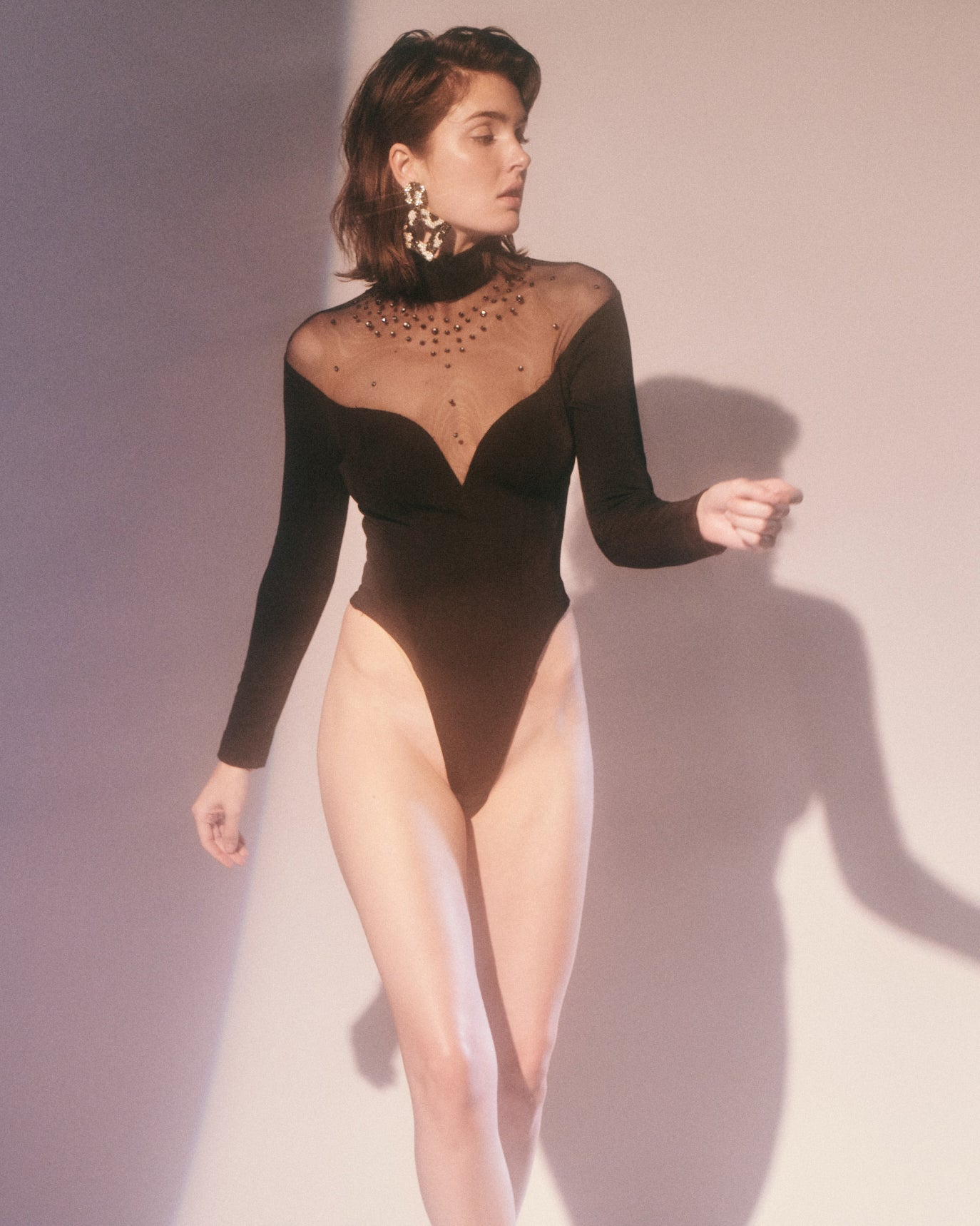 Indecent Proposal // Rhinestone Bodysuit