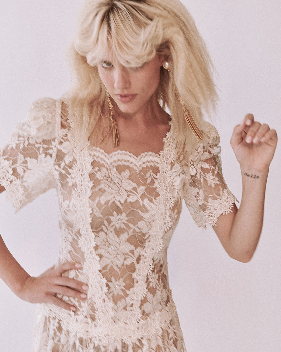 When Doves Cry Lace Dress