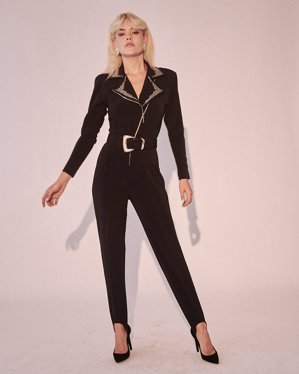 She Got The Beat Studded Catsuit