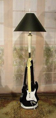 Custom Designed Guitar Hero Style Standing Floor Lamp Light Fixture Shade...........