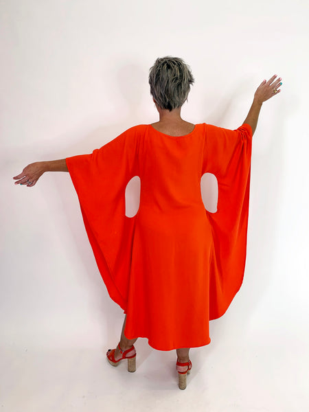 Butterfly Dress - Tangerine