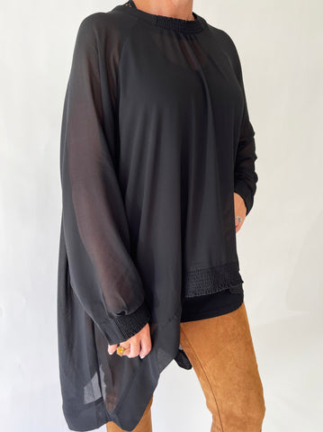 Chiffon Awaken Sweater - Black PRE-ORDER