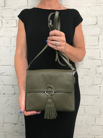 Fringe Drop Bag - Khaki
