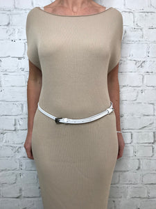 Twiggy Belt - White