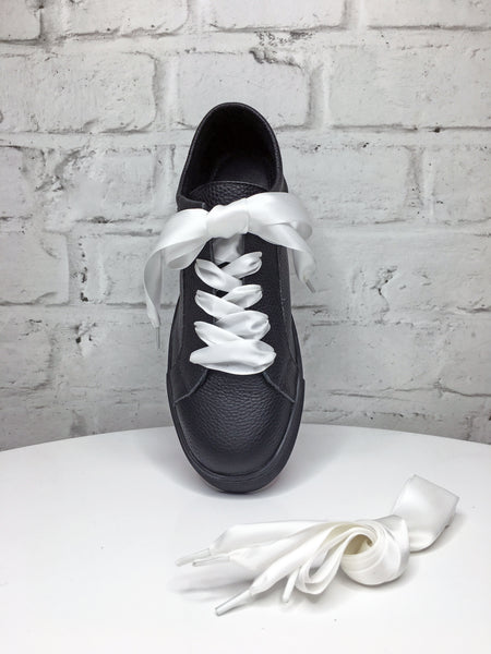 White Ribbon Shoe Laces