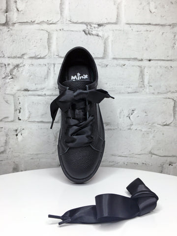Black Ribbon Shoe Laces