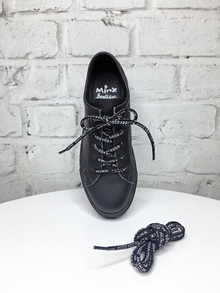 You Look Good Minx Shoe Laces - Black