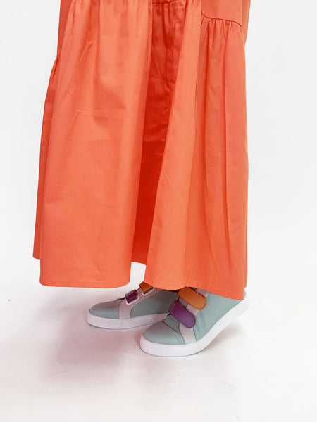 Waterfall Dress - Tangerine