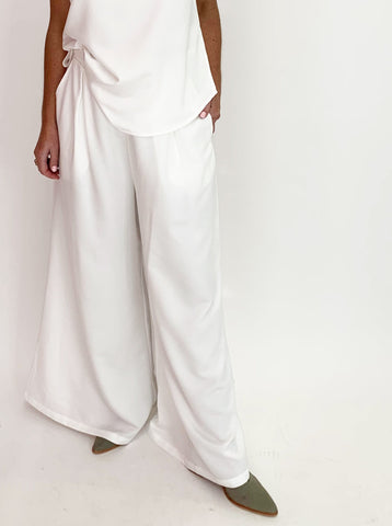 Hayworth Wide Leg Pant - White