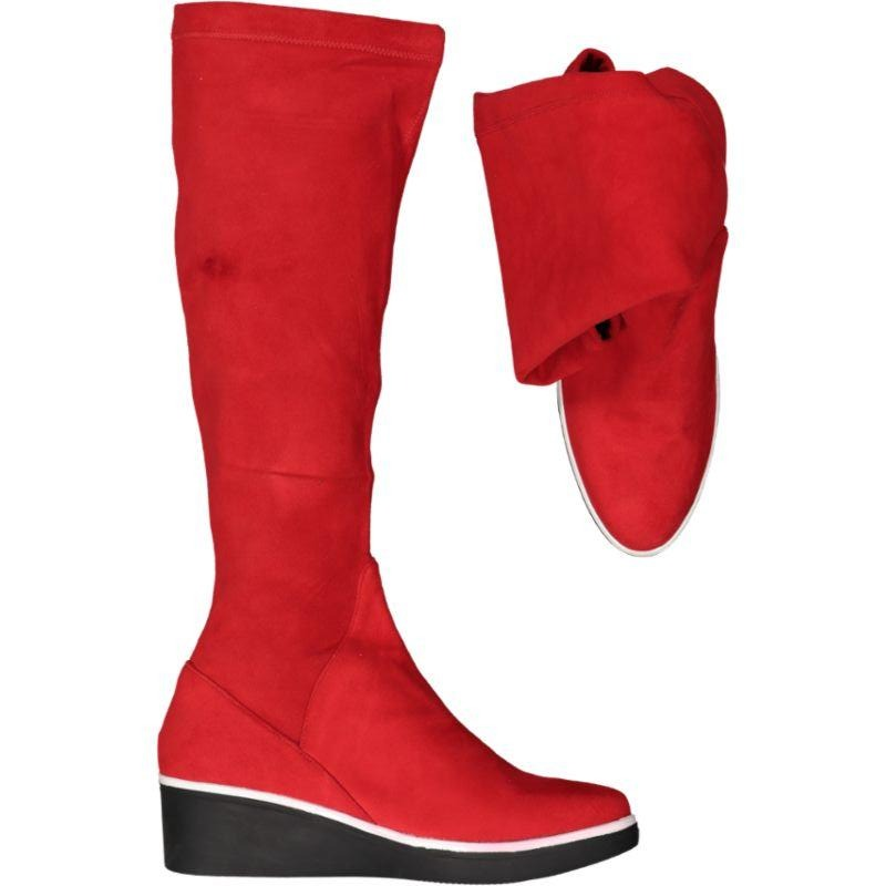 Jessie Long - Red Micro Suede