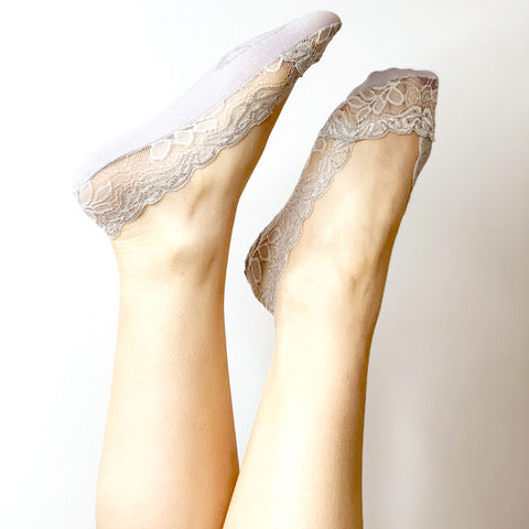 Lace Sockettes - Grey