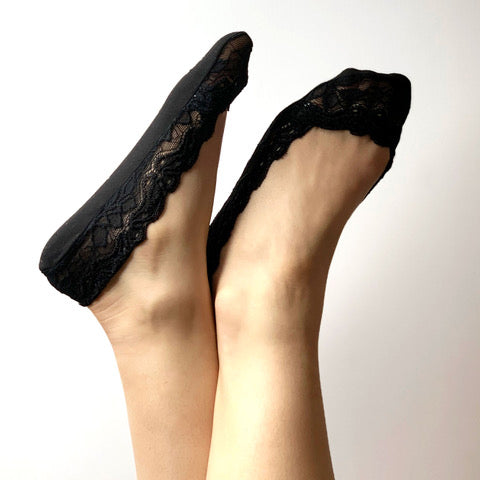 Lace Sockettes - Black