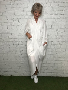 Drape Dress - White