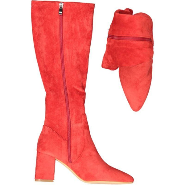 Point Pop Long - Red Mirco Suede