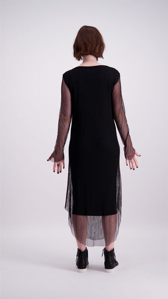 Fishnet Dress - Black