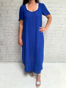 Scoop Neck Over Dress - Cobalt